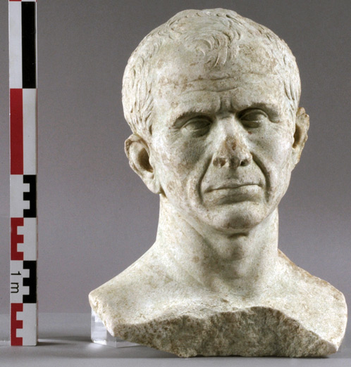 The Julius Caesar bust discovered in Arles