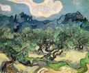 Olive Trees with the Alpilles in the Background - Vincent van Gogh - Arles 1889