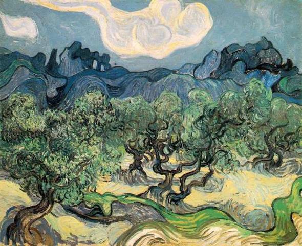 vêtements pour hommes nike entraînement - arles_van_gogh_Olive Trees with the Alpilles in the Background ...