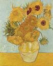 Vase with Twelve Sunflowers -Vincent van Gogh - Arles 1888