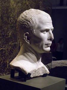 "Bust of Caesar as shown during the exhibition ""Ceasar, the Rhône for memory"""